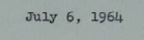 July 6th 1964